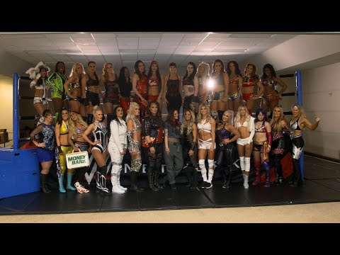 Behind the scenes of the Women's Royal Rumble photo shoot
