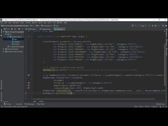 Java - 3 - Grupowanie orazpartycjonowanie