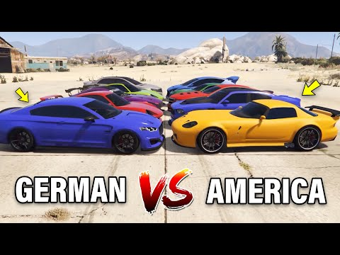 GTA V Online: GERMAN SPORT CARS VS AMERICAN SPORT CARS (WHICH IS FASTEST?)