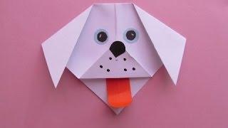 Оригами. Как сделать собачку из бумаги