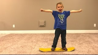 5 YEAR OLD FIRST CARPETBOARD TRICK!