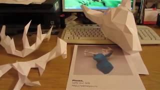 Papercraft, голова оленя, паперкрафт.