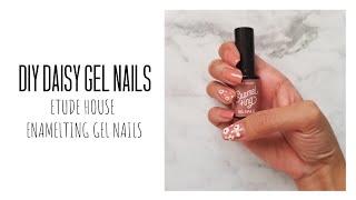 MY DIY's EP 4: Simple Daisy Nail Design ft. Etude House Enalmeting Gel Nails