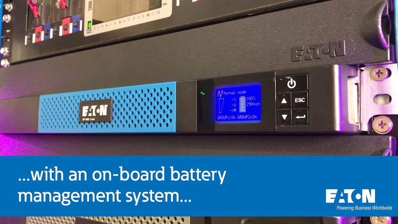 introducing the eaton 5p lithium ion rackmount ups