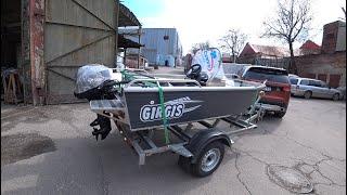 Отгрузка лодки Girgis 390DK клиенту. Полторы консоли) Tohatsu 20лс