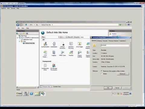 Edit Permission To A Website In IIS On A Windows 2008 R2 Server