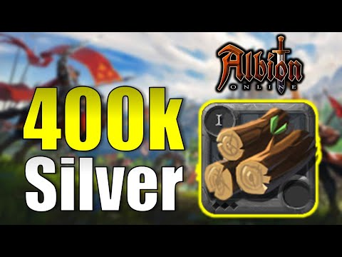 400K SILVER PROFIT In 20 MINUTES With ROUGH LOGS | How To Make More Silver Albion Online 2020