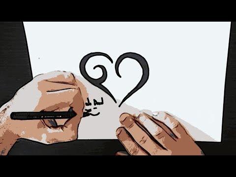 ESPECIAL 1000 INSCRITOS 💖 Como Desenhar Coração TRIBAL 💗 Tattoo - Simple Tribal Heart ,