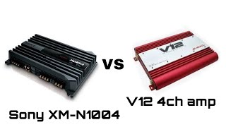 BASS BATTLE ||Sony 4 channel amplifier with V12 4 channel amp || car audio|| Alto 800