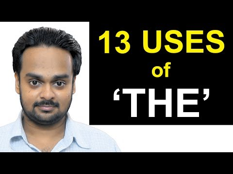 13 Uses of 'THE' - Articles (a, an, the) - Lesson 2 - English Grammar