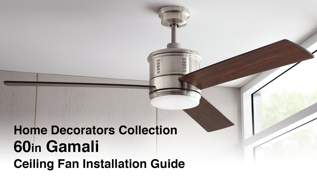 How to Install the 60in Gamali Ceiling Fan - YouTube