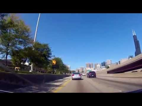 Driving from Portage, Indiana to Downtown Chicago on I90