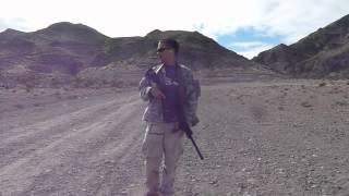 Saiga 12 shooting rifled slugs at 50 yards and 100 yards