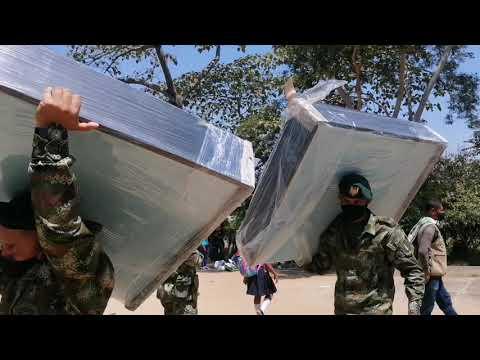 Ejército entregó camas y útiles escolares  en la vereda balsillas de Coyaima