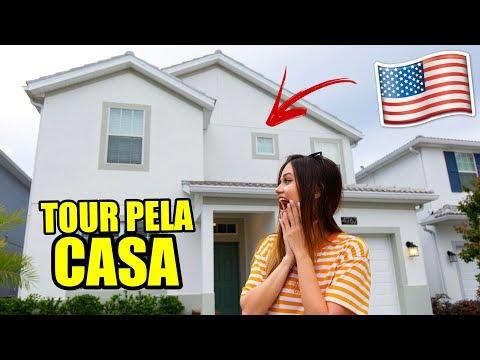 TOUR PELA NOSSA CASA EM ORLANDO! SERÁ QUE VAMOS MORAR NOS EUA? HAHA