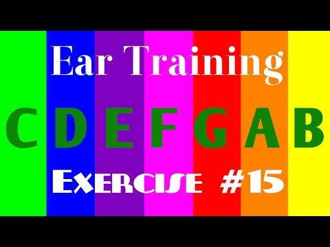 music lessons for kids : 5th ascending & descending intervals listening exercise in major scales #15