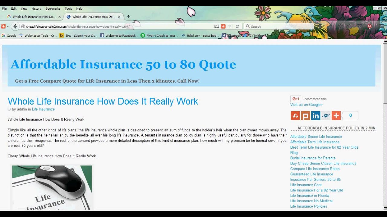 Cheap Whole Life Insurance Quotes Whole Life Insurance How Does It Really Work  Youtube