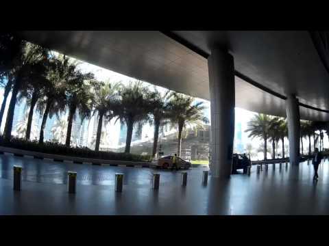 Walking Around Dubai Marina, Dubai Metro Station, Shopping Mall and the Garden