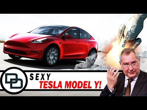 Tesla Model Y, Роскосмос заметил Илона Маска и Тим Эпл!