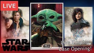 LIVE COSPLAY CASE BREAK: Padme Opens 2020 Topps Star Wars Stellar Signatures!