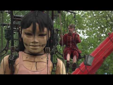Giant marionettes take over Montreal