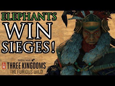 Elephants WIN sieges! - Furious Wild DLC Total War: 3K |