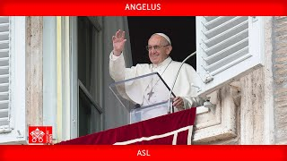 October 17 2021 Angelus prayer Pope Francis + ASL