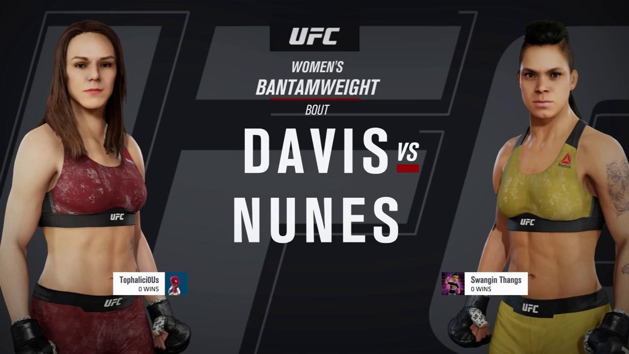 "Download EA UFC 3: Ranked Online: Alexis ""Ally-Gator"" Davis vs Amanda ""Lioness"" Nunes (me)"