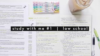 study with me #1 | law school