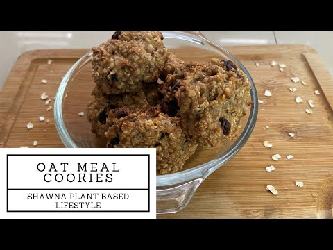 Banana Oatmeal Cookie with Hemp Seeds and Cranberries| Dairy Free Chewable Oatmeal Cookie| Vegan|