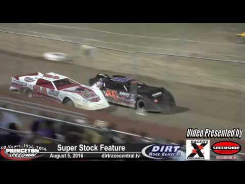 Princeton Speedway 8/5/16 WISSOTA Super Stock feature final laps