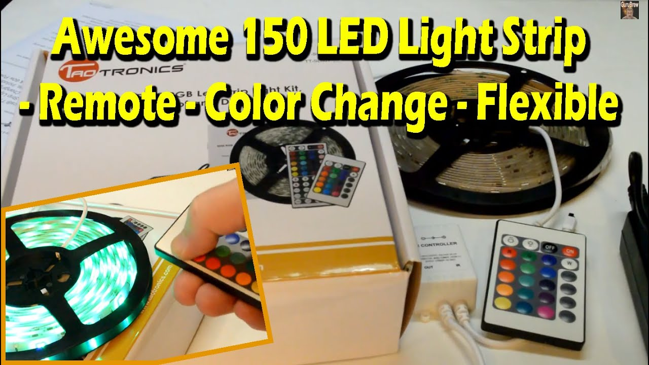 Awesome 150 led light strip remote color change flexible youtube mozeypictures Images