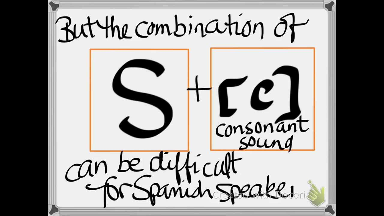 """How to pronounce words that begin with """"S"""" and a consonant"""
