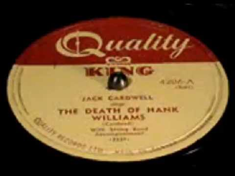 The Death Of Hank Williams - Jack Cardwell