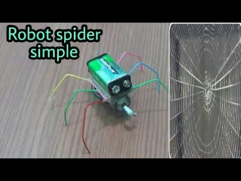 how to make a Robot spider – very easy [newcd]