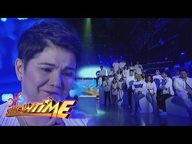 It's Showtime: Amy Perez leads the prayer for Franco Hernandez