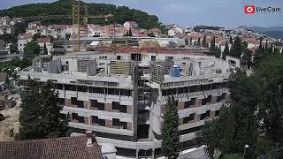 Skraćena verzija - izgradnja studentskog doma 2018-2020. Sveučilište u Dubrovniku, time lapse