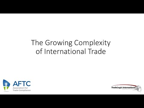 The Growing Complexity of International Trade