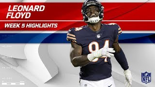 Leonard Floyd's 2 Sacks w/ Safety! 🙏   Vikings vs. Bears   Wk 5 Player Highlights