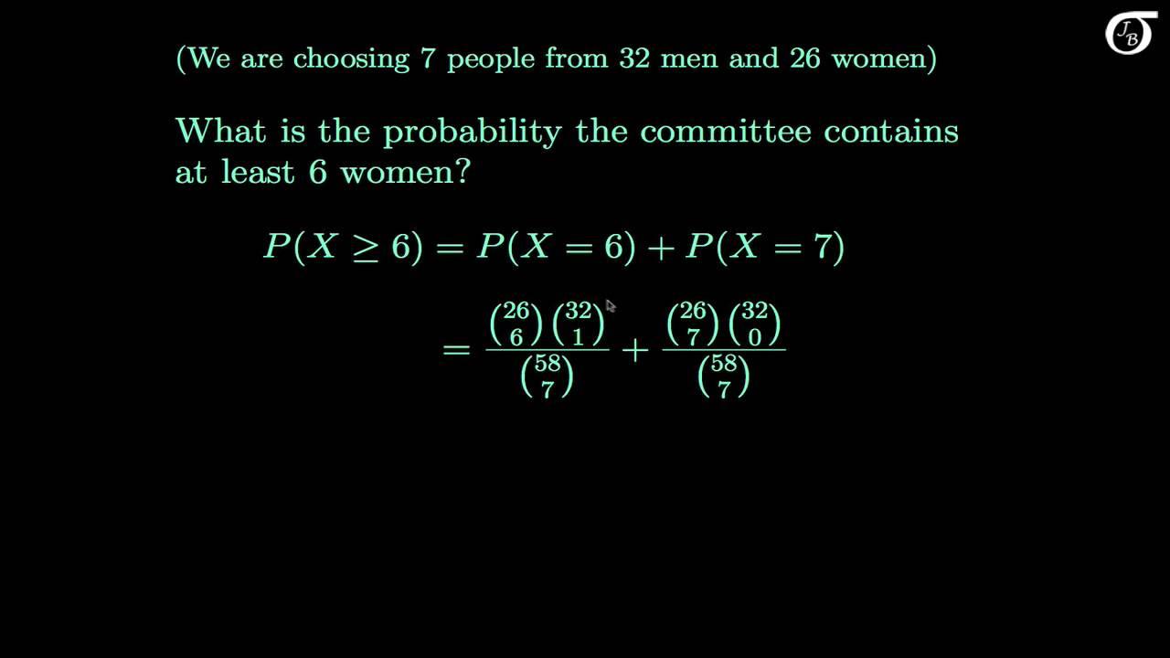 Discrete Probability Distributions: Example Problems (Binomial, Poisson, Hypergeometric, Geometric)