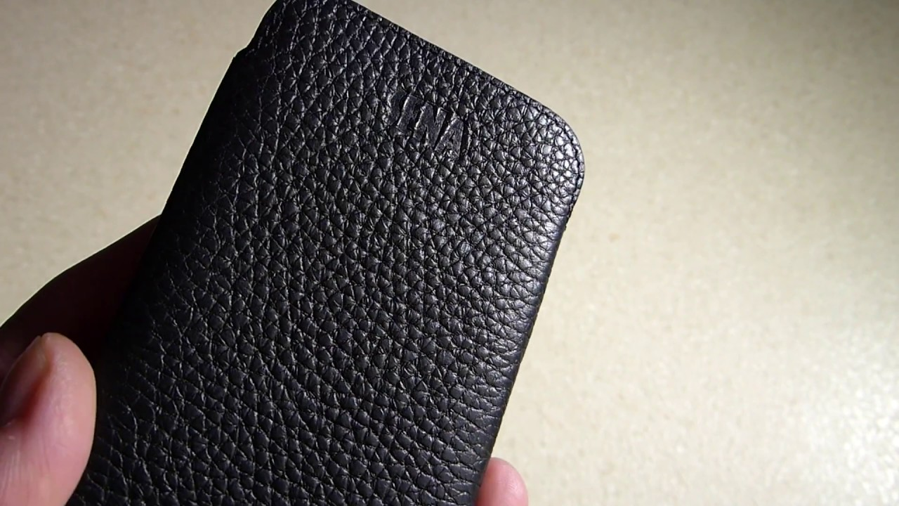 buy online 51ee8 08daa Sena UltraSlim Leather Sleeve Case For iPhone X (10) Review - YouTube
