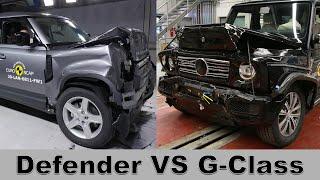 Land Rover Defender VS Mercedes G-Class – Crash Tests