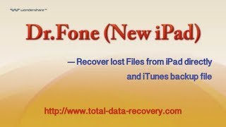 Data Recovery for iOS | Recover data from iPad directly and iTunes backup