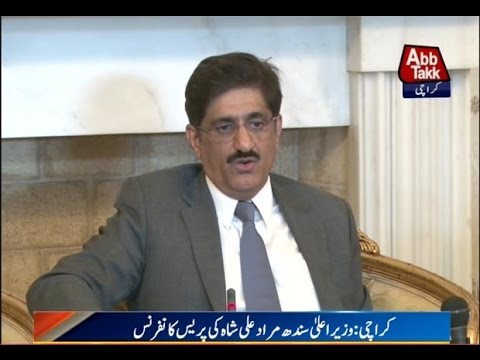 Karachi: CM Sindh Murad Ali Shah addressing press conference