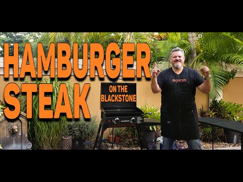 """easy-hamburger-steak-recipe-on-the-blackstone-22""""-griddle- -cooking-with-big-cat-305"""