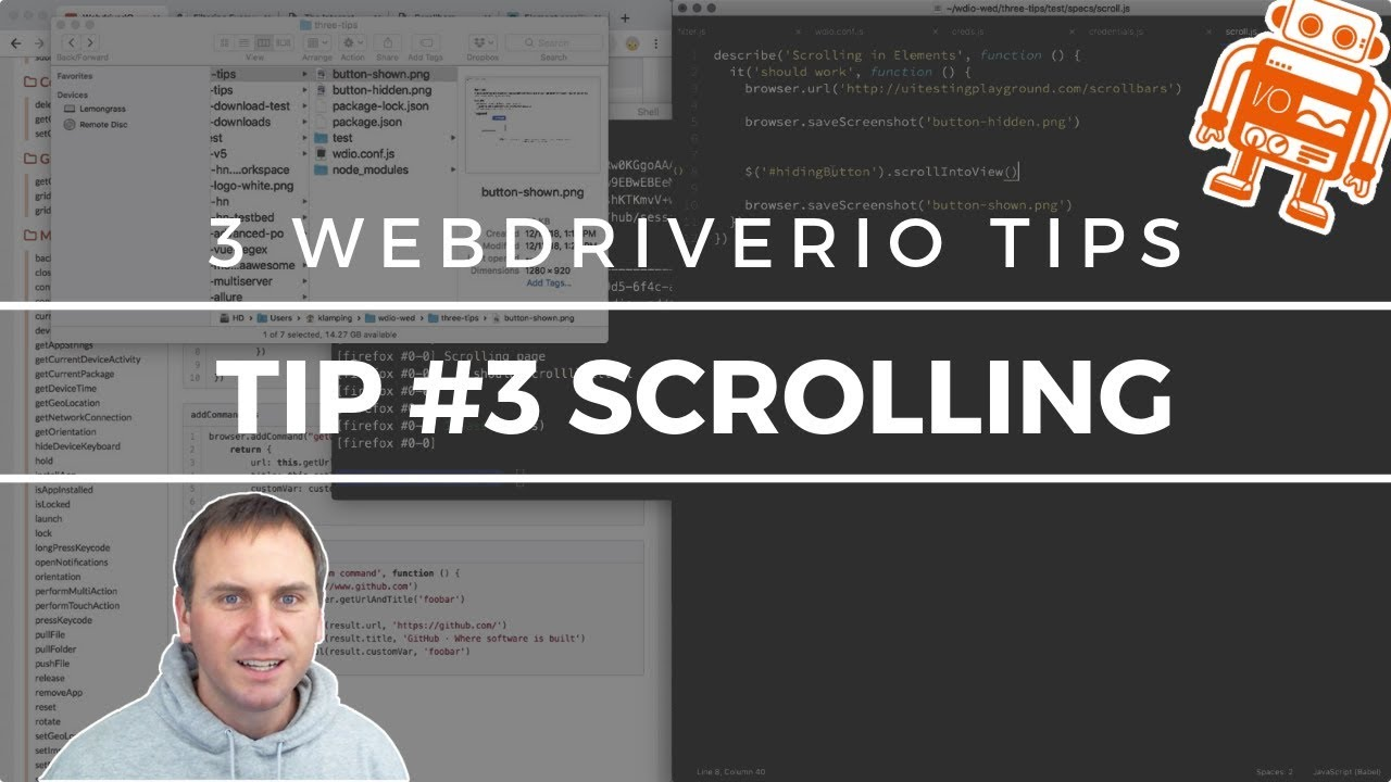 3 WebdriverIO Tips: Scrolling Elements w/JS Execute (Tip #3)