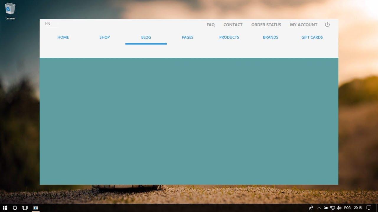 C# WPF Material Design UI: Tab Menu