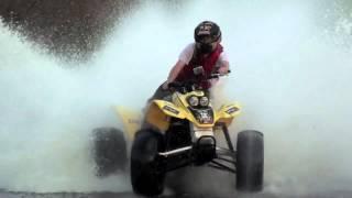 ATV Skimming Water!! 400EX 4x4 600EX Water Skipping! Drifting on Water!!!!