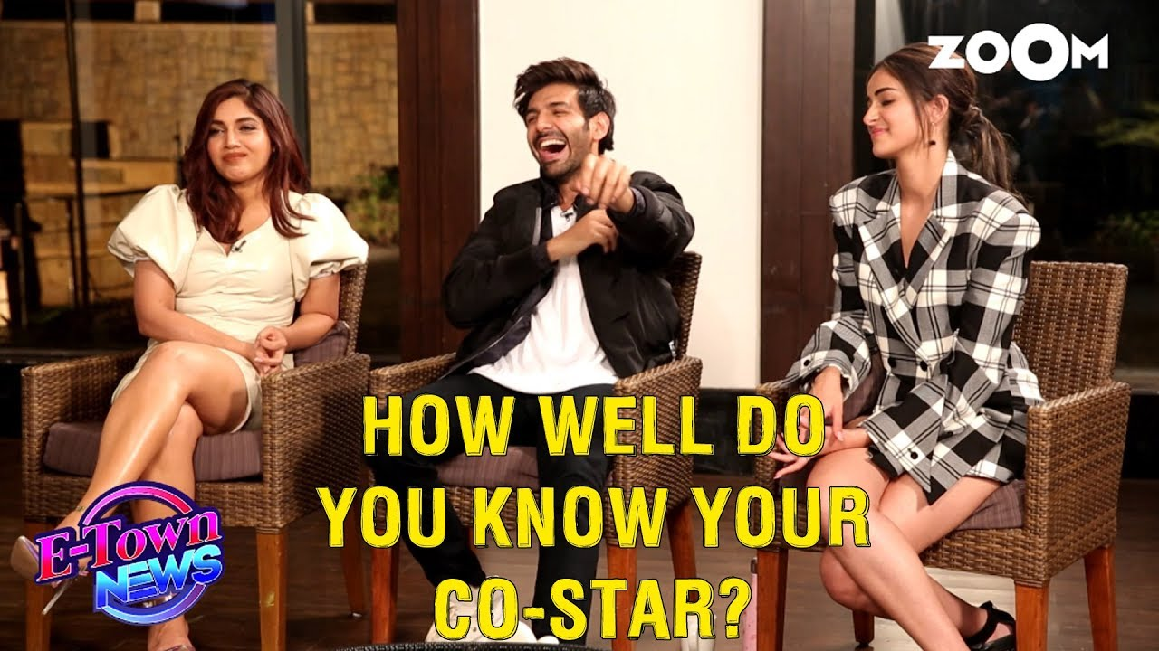 Kartik, Ananya & Bhumi give HILARIOUS answers in How well do you know your co-star game | Exclus