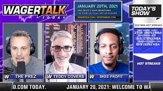 Daily Free Sports Picks | NBA Picks and NFL Betting Previews on WagerTalk Today | January 20
